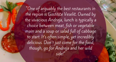 Don't just Come for the Food, Go for Andreja and her Wild Side