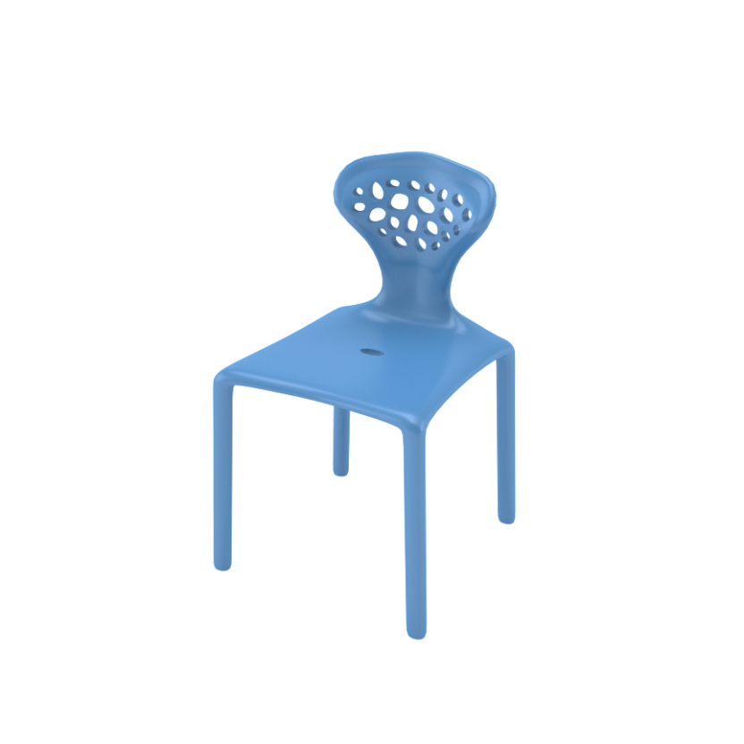 BB Chair Blue Front Side