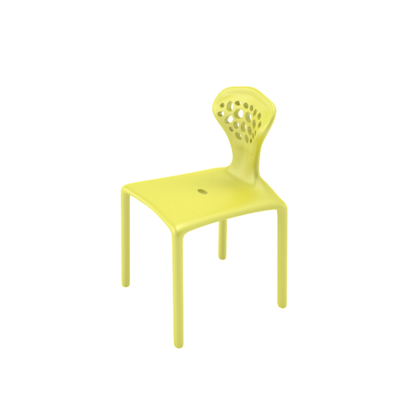 BB Chair Yellow Side