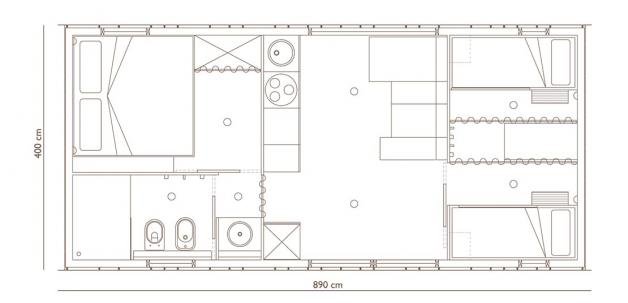 Hosekra Big berry brown berry Floor plan 6 pers