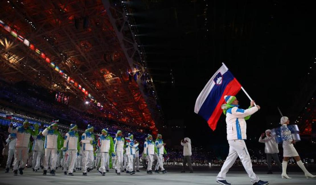 flag carrier at the olympics