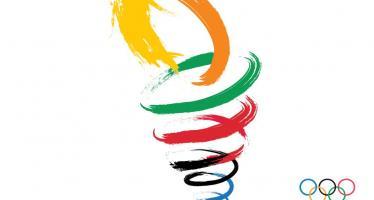 Olympic torch poster